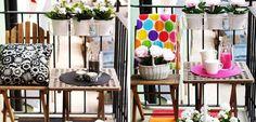Aprovechar un balcón pequeño para el verano - http://www.decoora.com/aprovechar-balcon-pequeno-verano/