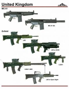 british army weapons - Google Search