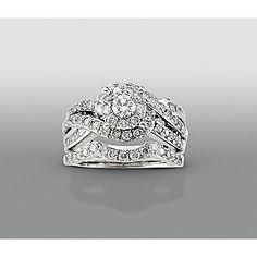 david tutera 1 12 cttw certified diamond bridal set 14kt white gold silver anniversaryanniversary ringsbling jewelrywedding - David Tutera Wedding Rings