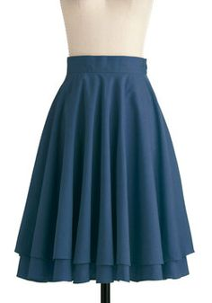"So Pretty and Feminine... ""Effortless is More"" Skirt in Blue, #ModCloth $51.99"