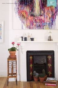 Tamara Turnbulls Sydney home on the Temple  Webster blog. #art #mantle