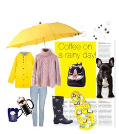 """""""Coffee on a rainy day!"""" by furryhugs on Polyvore featuring London Undercover, Topshop, Joules, Bodum, women's clothing, women, female, woman, misses and juniors"""