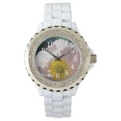 Poppy flower wrist watch