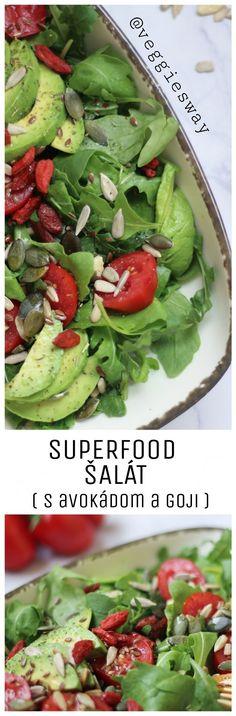 Superfood šalát - Zdravý obed za 5 minút - Veggie´s Way Superfood, Sprouts, Green Beans, Vegetables, Vegetable Recipes, Veggies