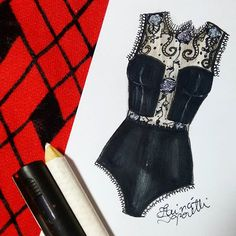 ▪ #draw #drawing #fashion #love #inlove #fashionillustration #black #illustration #lingerie #intimates #instagood  #fashiondesign #designdemoda #moda #art  #arte #croqui #handmade #lookdodia #body #lookoftheday #lace #vintage #fashion4arts
