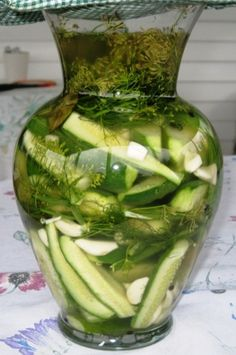 Pickling cucumbers - Day 1