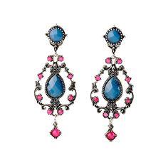 Pair of Stunning Water Drop Faux Crystal Earrings For Women #shoes, #jewelry, #women, #men, #hats, #watches, #belts