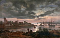 Le Prince Lointain: Johan Christian Dahl (1788-1857), Larvik havn i må...