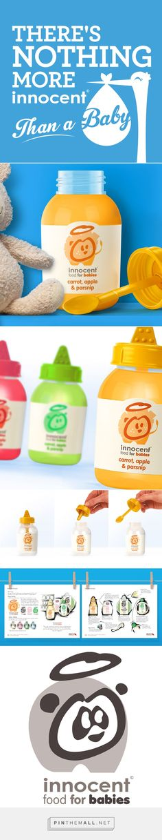INNOCENT packaging and branding by Storm Brand Design curated by Packaging Diva PD. Innovative idea was to develop a baby food in line with Innocent's brand values. Inspired by blowing bubbles as a child. Sweet : )
