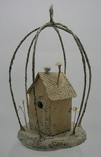 Little House inside a cage
