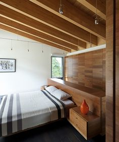 Whistler Residence by Battersby Howat Architects / Chambre bois / Wood Bedroom Modern Interior Design, Interior Architecture, Interior And Exterior, Home Bedroom, Modern Bedroom, Bedrooms, Master Bedroom, Whistler, House Design