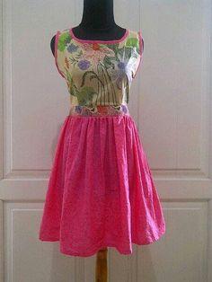 Pink batik dress Batik Kebaya, Batik Dress, Fashion Styles, Women's Fashion, Batik Fashion, Ethnic Dress, Blouse And Skirt, Ikat, Frocks