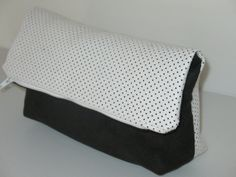 evening clutch black and white clutch color by LIGONaccessories, $30.00