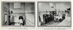 a suffragette's cell and a normal political prisoner's cell Prison Cell, Political Prisoners, National Archives, Textile Patterns, New Image, Suffragettes, Illustration, Artwork, Painting