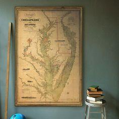 Chesapeake Bay Southern Part Historical Map  1914  Chesapeake