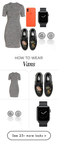 """Sem título #1593"" by natalierlu on Polyvore featuring French Connection and Vans"