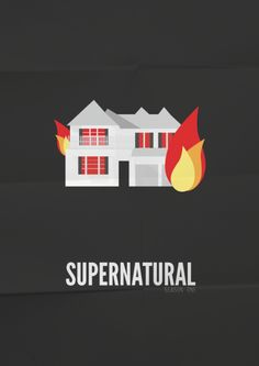 #supernatural season one #minimal #illustration #poster