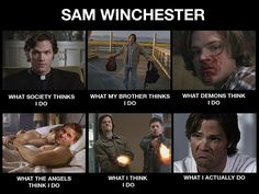 What Sam Thinks He Does ha ha :D Sam Winchester / Jared Padalecki #Supernatural
