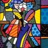 """Romero Britto's """"Cheek To Cheek"""" 1999, 72"""" x 60"""" Acrylic on Canvas. Learn more about Romero Britto and Florida (The Sunshine State) at: www.floridanest.com"""
