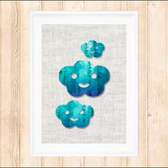 Poly Cloud Print by Two Decade Designs $15.00 including postage