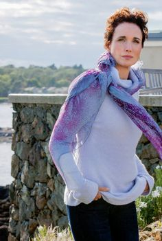 Andie MacDowell Stars in Debbie Macomber's Cedar Cove - love all the scarf looks she wore in the pilot episode.