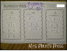 Mrs. Plant's Press: Fact fluency