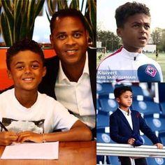 Tiene 9 años juega en las inferiores del PSG y acaba de firmar contrato de patrocinio con Nike por 5 años. Shane Kluivert hijo de Patrick. Locura.