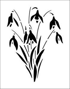Garden stencils from The Stencil Library. Stencil catalogue quick view page Stencils Online, Free Stencils, Stencil Templates, Stencil Patterns, Stencil Art, Stencil Designs, Flower Stencils, Stenciling, Vogel Clipart