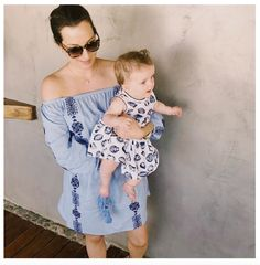 No Sunday Blues around here with @sophiepatersoninteriors and the gorgeous Ava in our Blue Bardot