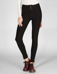 65753fb3ec2e7e YMI Womens Highwaisted Skinny Pants Skinny Pants, 3, Black Jeans