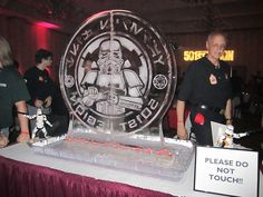The 501st Legion Logo in an ice sculpture at the 501st members-only bash