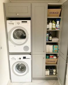 Trockner Laundry Room Ideas Washer Dryer Stacked - Laundry Room Ideas - How To Choose A Shelving Sys Pantry Laundry Room, Laundry Room Layouts, Laundry Room Remodel, Laundry Room Organization, Laundry Room Design, Laundry In Bathroom, Basement Laundry, Small Laundry Closet, Ikea Laundry Room