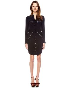 MICHAEL Michael Kors Zip-Pocket Shirtdress - Michael Kors All mine can't wait for the weather to get warmer so I can wear it..