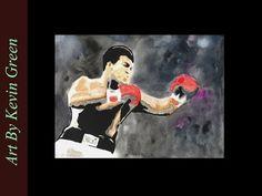 Muhammad Ali Watercolor (speed painting)