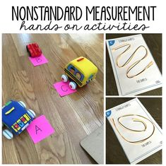 Nonstandard measurement activities that are easy to prep and engaging for your first grade students. Measurement is often an overlooked skill in math and First Grade Measurement, Nonstandard Measurement, Teaching Measurement, Measurement Activities, First Grade Activities, Teaching First Grade, 1st Grade Math, Hands On Activities, Teaching Math