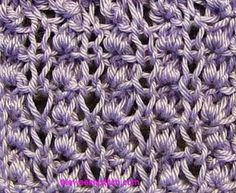 Knotted Pillar Stitch | The Weekly Stitch Multiple of 4 + 1