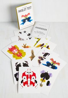 $14.99 The Redstone Inkblot Test. Embark on a journey of self-discovery with this playful guide from Chronicle Books. #multi #modcloth