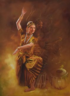 Kamal Rao is an Indian artist and painter, known for his realist works. Indian Artwork, Indian Art Paintings, Abstract Paintings, Rajasthani Painting, Indian Classical Dance, Dance Paintings, Girl Artist, Artist Work, India Art
