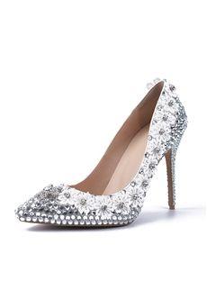 Shoespie Rhinestone Lace Flower Bridal Shoes - Shoespie.com