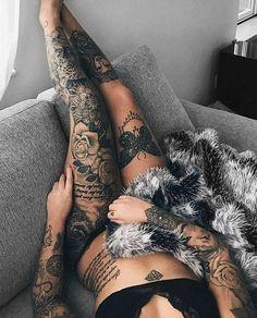 Ideas Fitness Model Tattoo Girls For 2019 Tattoo Girls, Girls With Sleeve Tattoos, Girl Tattoos, Tattoo Women, Leg Tattoos Women, Tattoo Bein Frau, Tattoo Arm Frau, Leg Sleeve Tattoo, Tiny Tattoos For Women