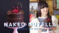 MINI NAKED CAKE DE CHOCOLATE E NUTELLA (Bolo Pelado) - Depois dos Quinze - #ICKFD 24