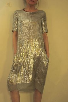 Hazel Brown — sequin dress