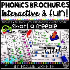 Phonics Brochure FREEBIE - Short a - These guided readers are interactive, fun, and perfect for beginning readers. Each tri-fold focuses on a targeted phonics skill and gives students confidence while reading fluently and developing comprehension. Great for kindergarten and first grade students...