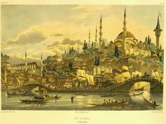 Engravings of Ottoman Istanbul Department Of Geography, Turkey Painting, Map Sketch, Picture Engraving, Islamic Paintings, Good Old Times, Jean Baptiste, Ottoman Empire, Basel