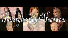 Tudor – Elizabethan Hairstyles And Headwear updated and Narrated #Elizabethan #Tudor #History #Hairstyles Good Dye Young, Tudor Era, Head Coverings, Black Hood, Cool Hairstyles, Tudor History, Hair Styles, Youtube, Fashion