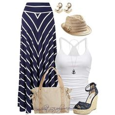 Navy blue and white nautical