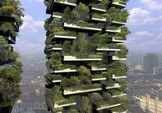 Vertical forest to be built in Milan, one of Europe's most polluted cities.