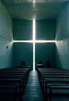 Church of the Light, 1989, Ibaraki, Osaka. Photo by Mitsuo Matsuoka.