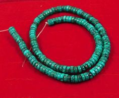 130 Cts.  Natural 4x2mm Tibetan Turquoise Beads Strand  (NF207) #NagmaGems