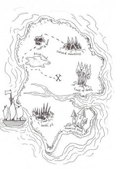 pirate treasure map coloring pages - Pirate Treasure Map Coloring Page